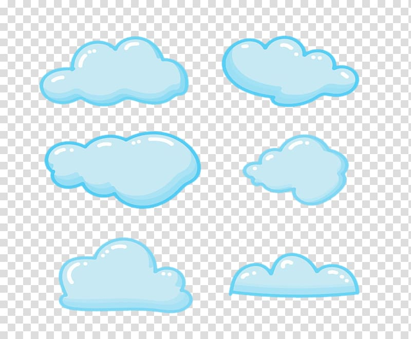Clouds clipart illustration. Blue cloud sky cartoon