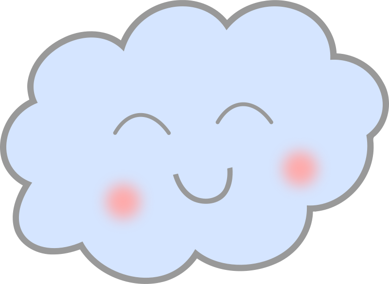 Clouds clipart cute.  collection of happy