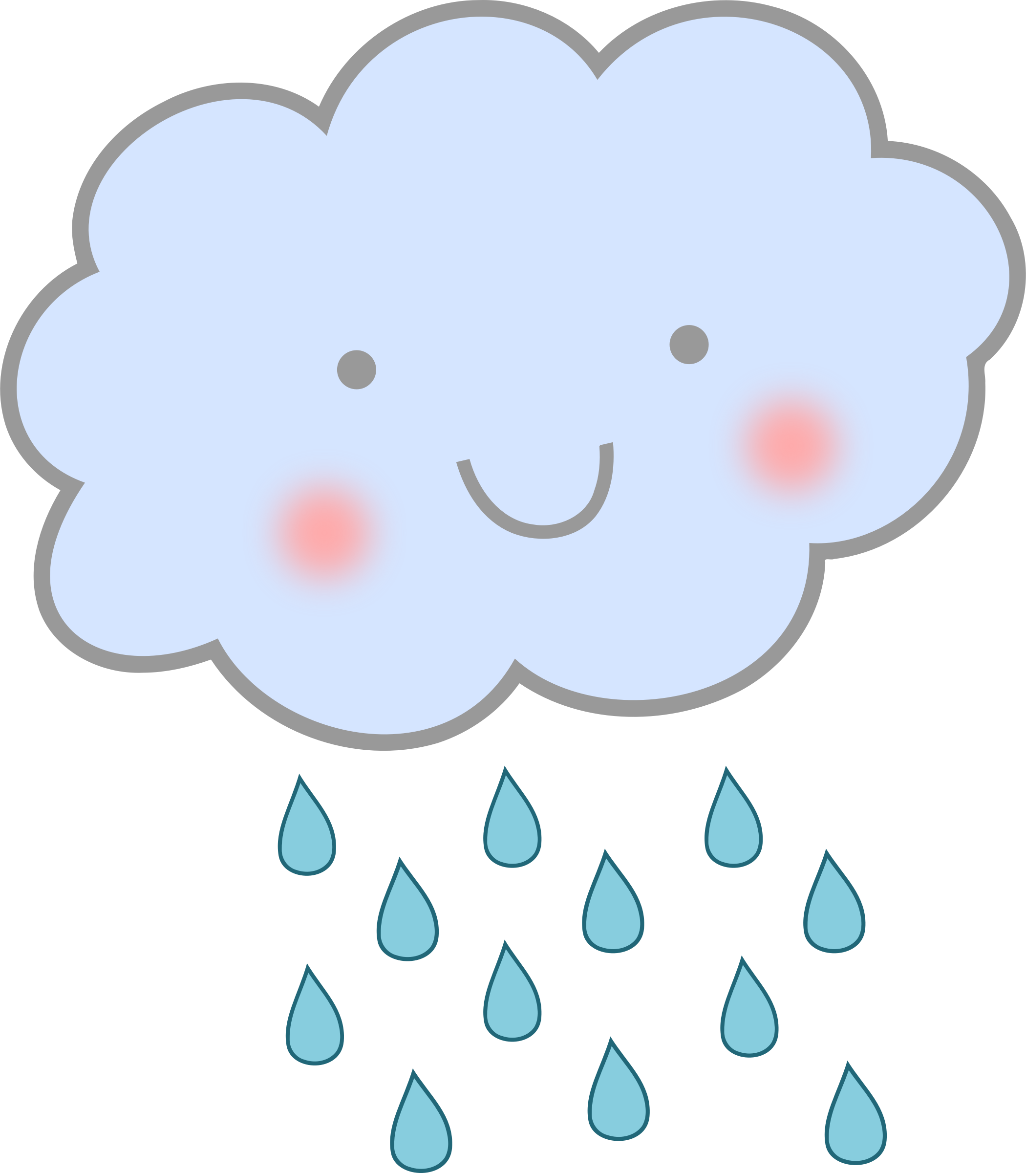 Planet clipart cute. Rain cloud big image