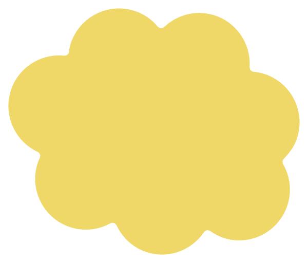 Label clipart cloud. Yellow clip art at