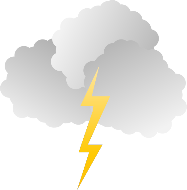 Lightning clipart thundercloud.  collection of storm