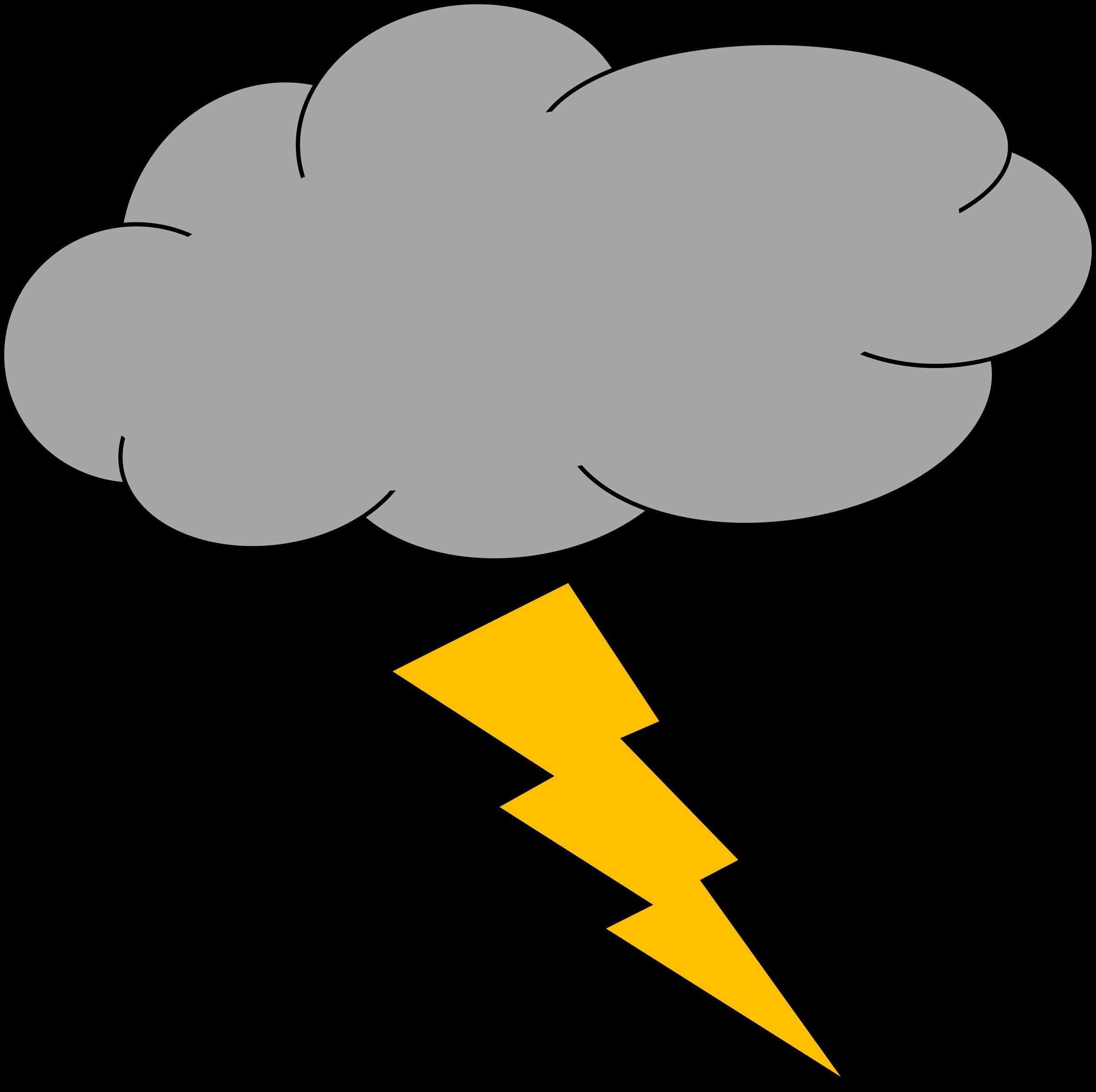 Lightning clipart thundercloud. Thunder and big image