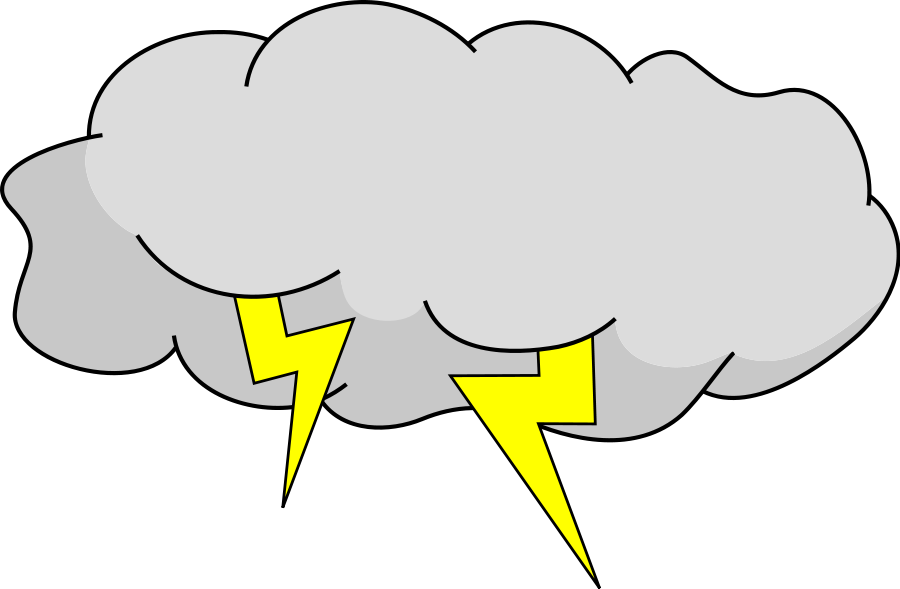 Hurricane clipart hail weather. Thunderstorm lightning cloud clip