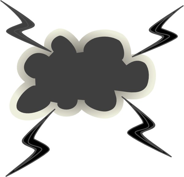 Fight clipart cloud. Angry with lightening bolts