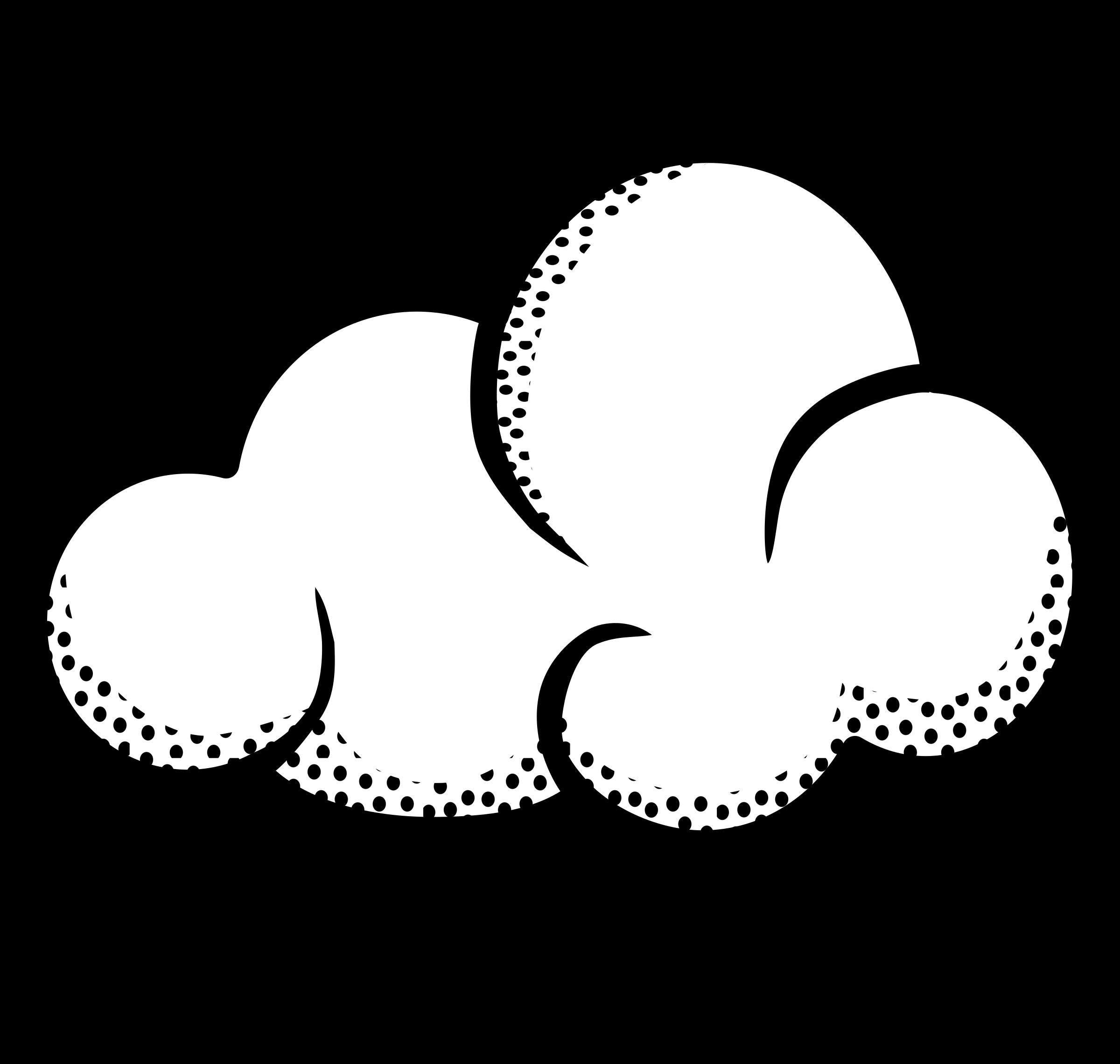 Cloud lineart big image. Clouds clipart line art