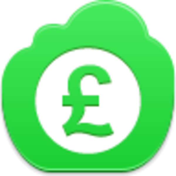 Pound icon free images. Coin clipart green
