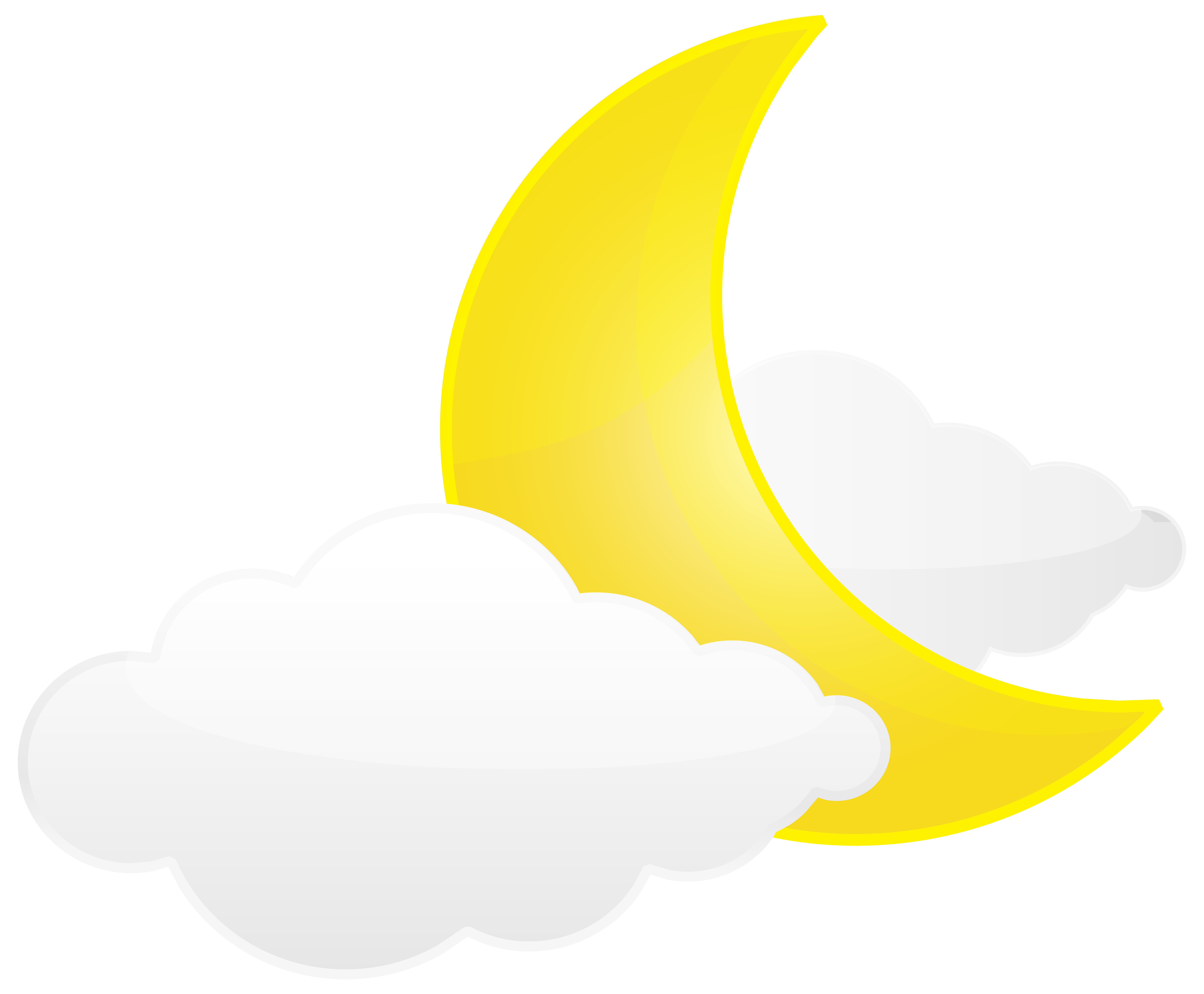 Clouds clipart clip art. Moon with png transparent