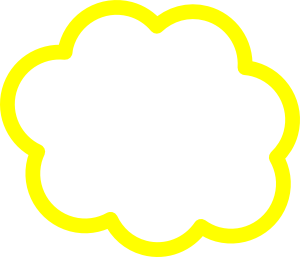 Yellow cloud clip art. Clouds clipart logo