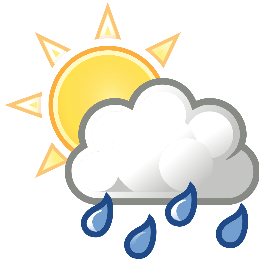 Sunny clipart rainy day. File weather sun clouds