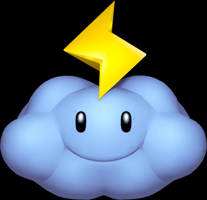 Thunder cloud mariowiki fandom. Lightning clipart thundercloud