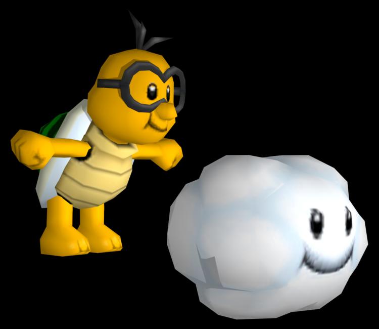 Wii new super lakitu. Cloud clipart mario bros
