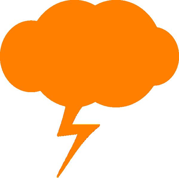 Thunder orange clip art. Lightning clipart royalty free