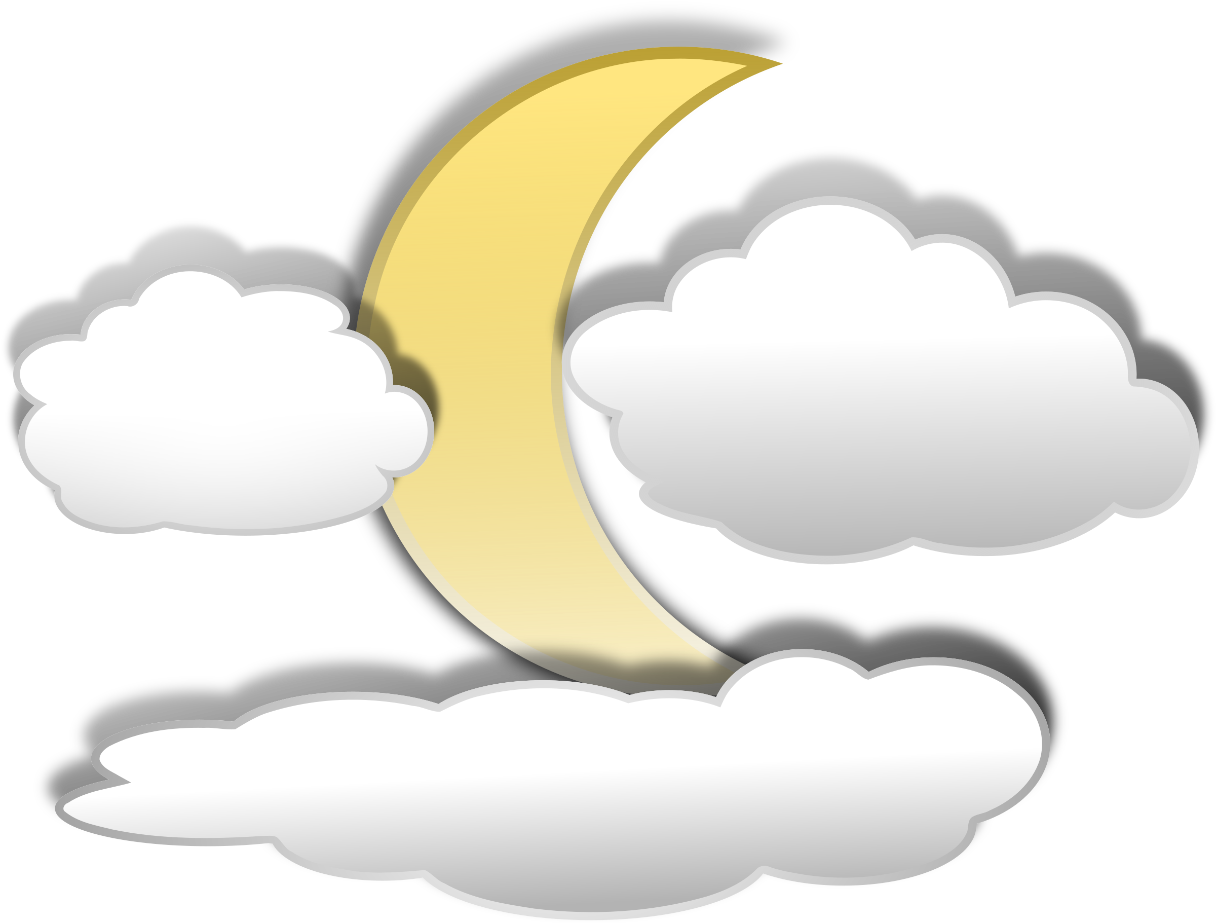 Clouds clipart clip art. Full moon at getdrawings