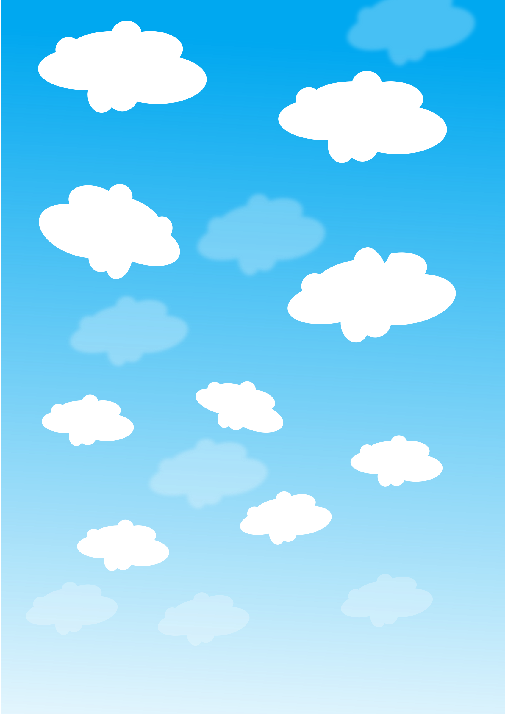 Sunny clipart daytime sky. With clouds big image