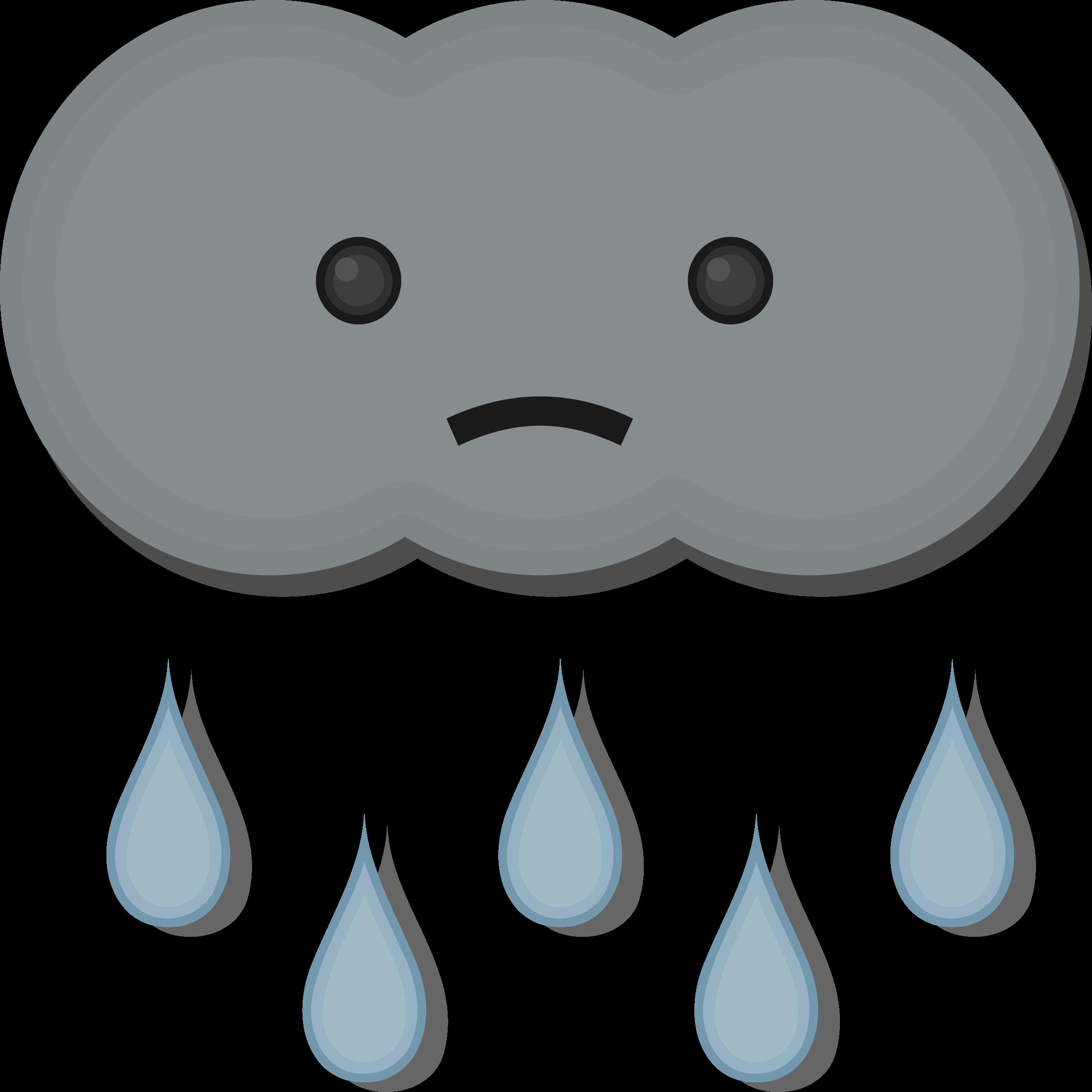 Sad little cloud big. Clouds clipart pdf