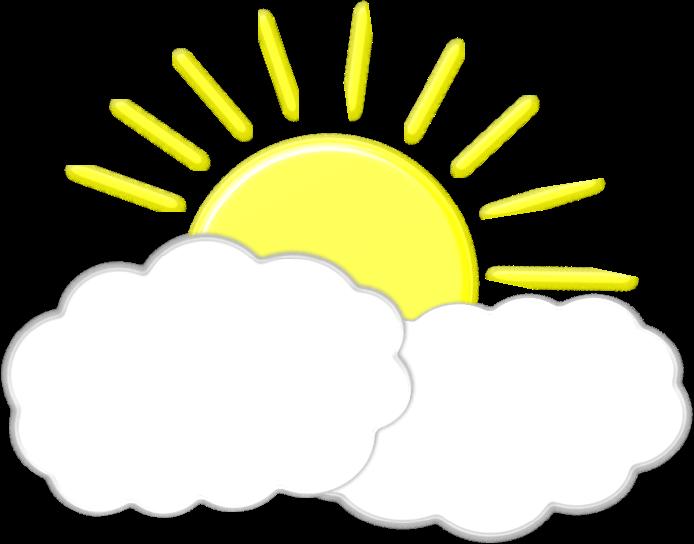 Sun behind remix medium. Clipart clouds pdf