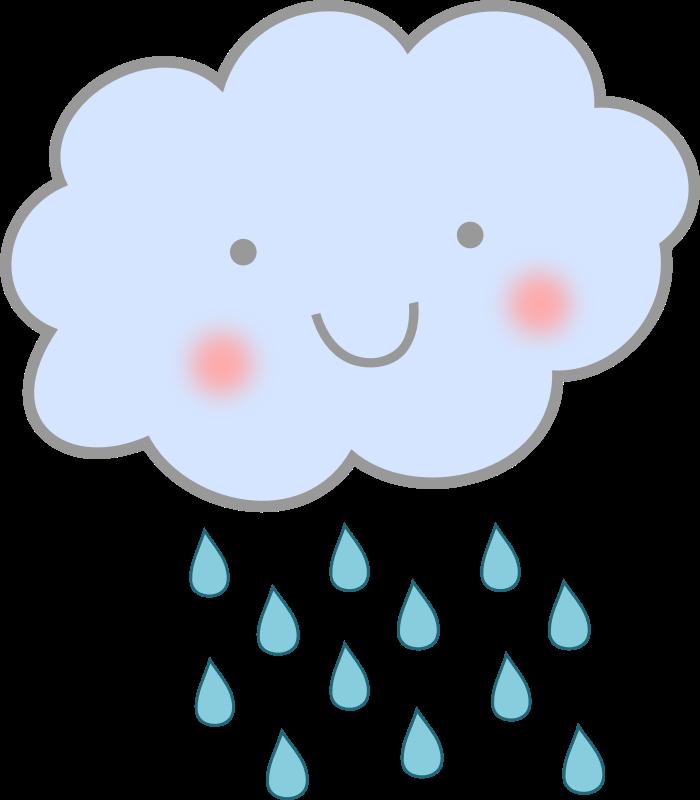 Cute rain cloud medium. Clouds clipart bmp