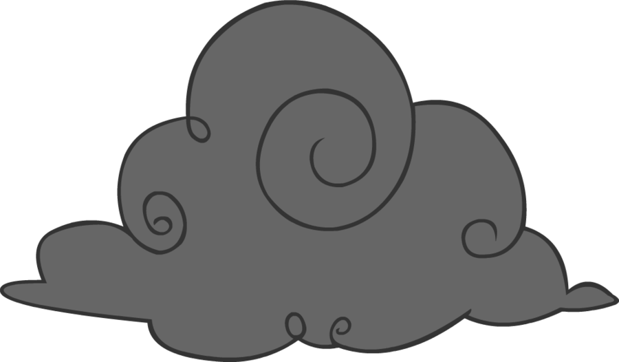 Smoke cloud cliparts free. Clouds clipart polluted