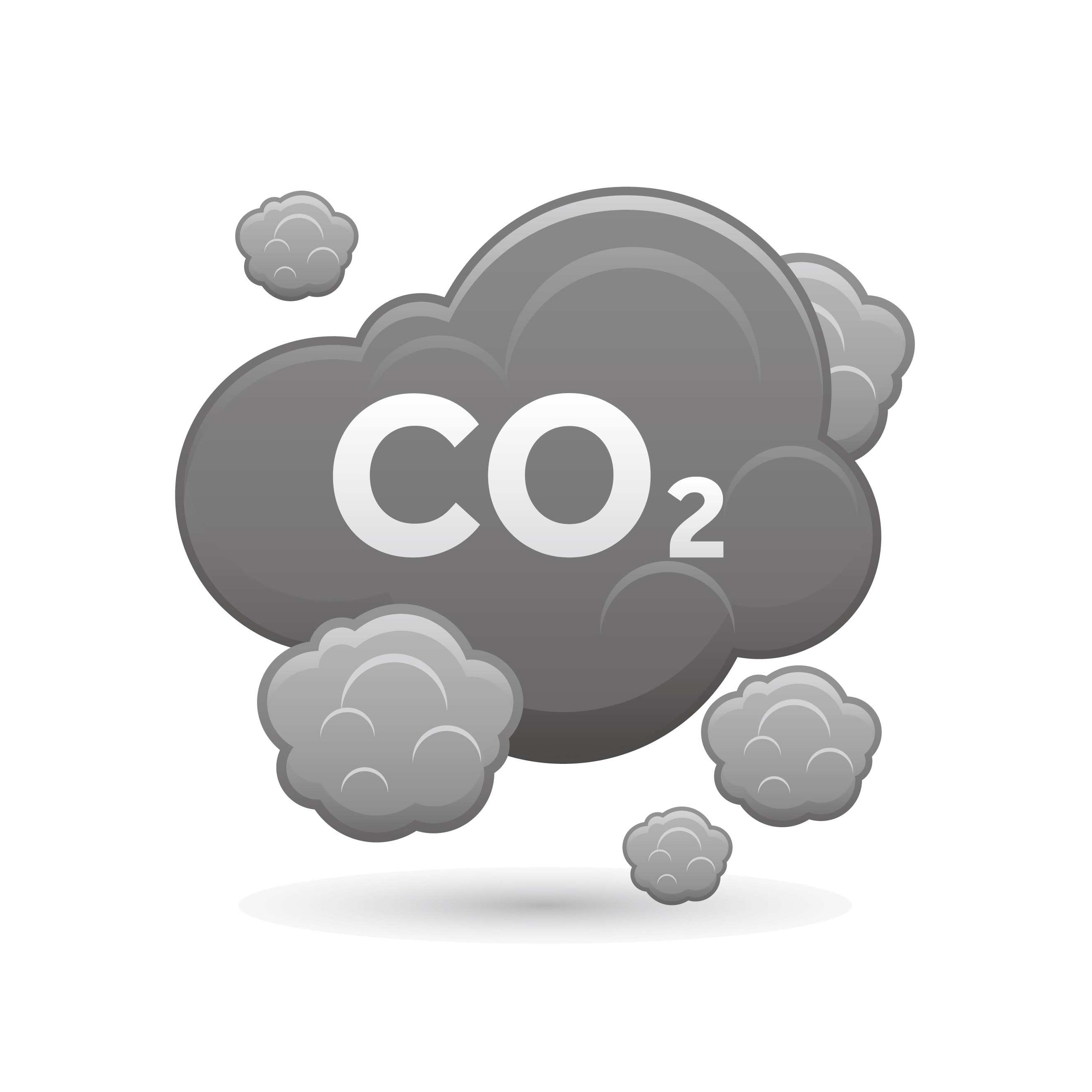 Clouds clipart polluted. Carbon dioxide air pollution