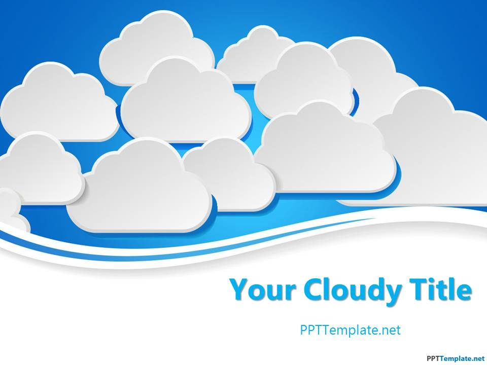 Free ppt template with. Clouds clipart powerpoint