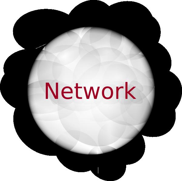 Network cloud clip art. Clouds clipart powerpoint