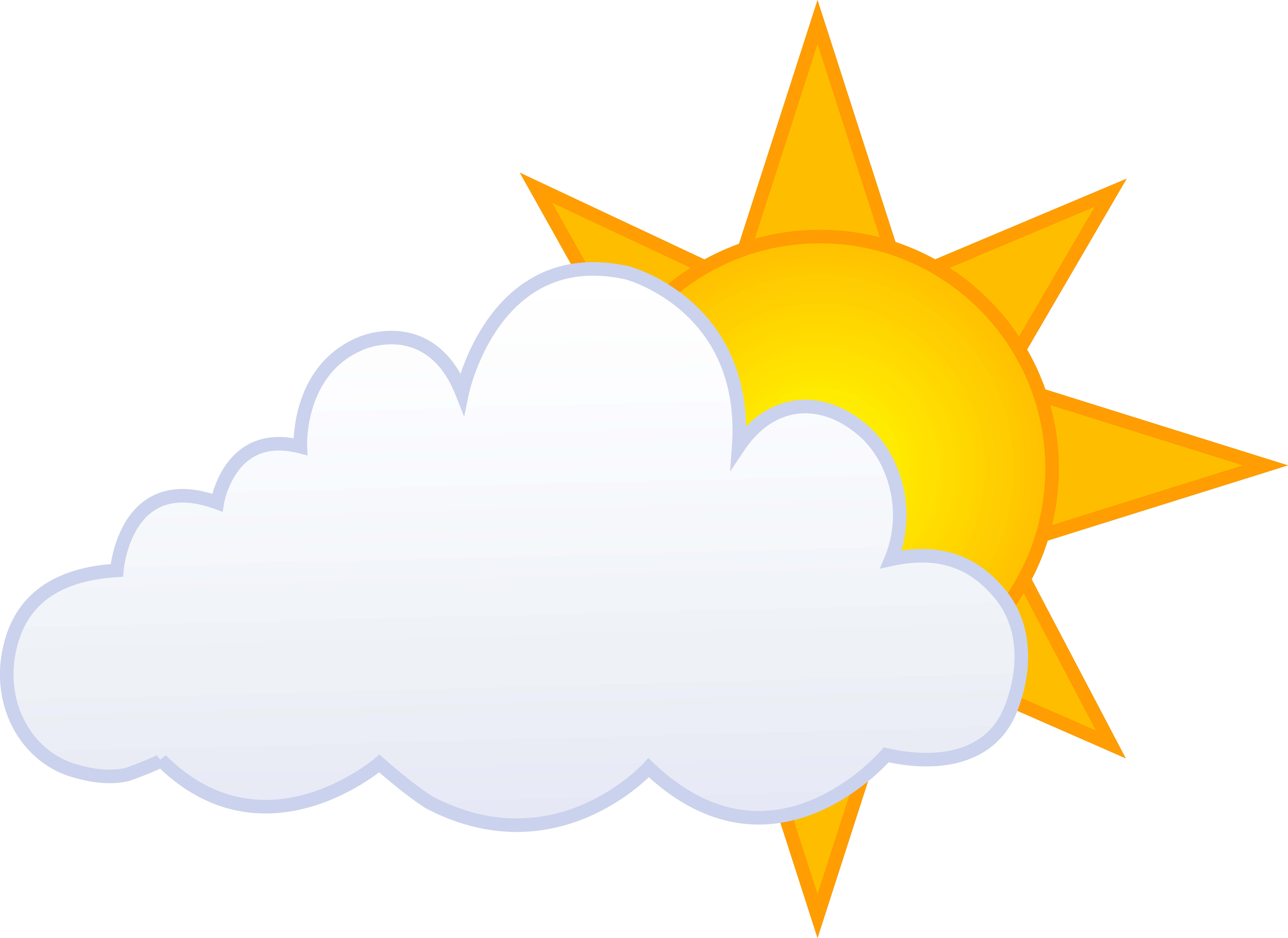 Sunny clipart blue. Sun and clouds drawing