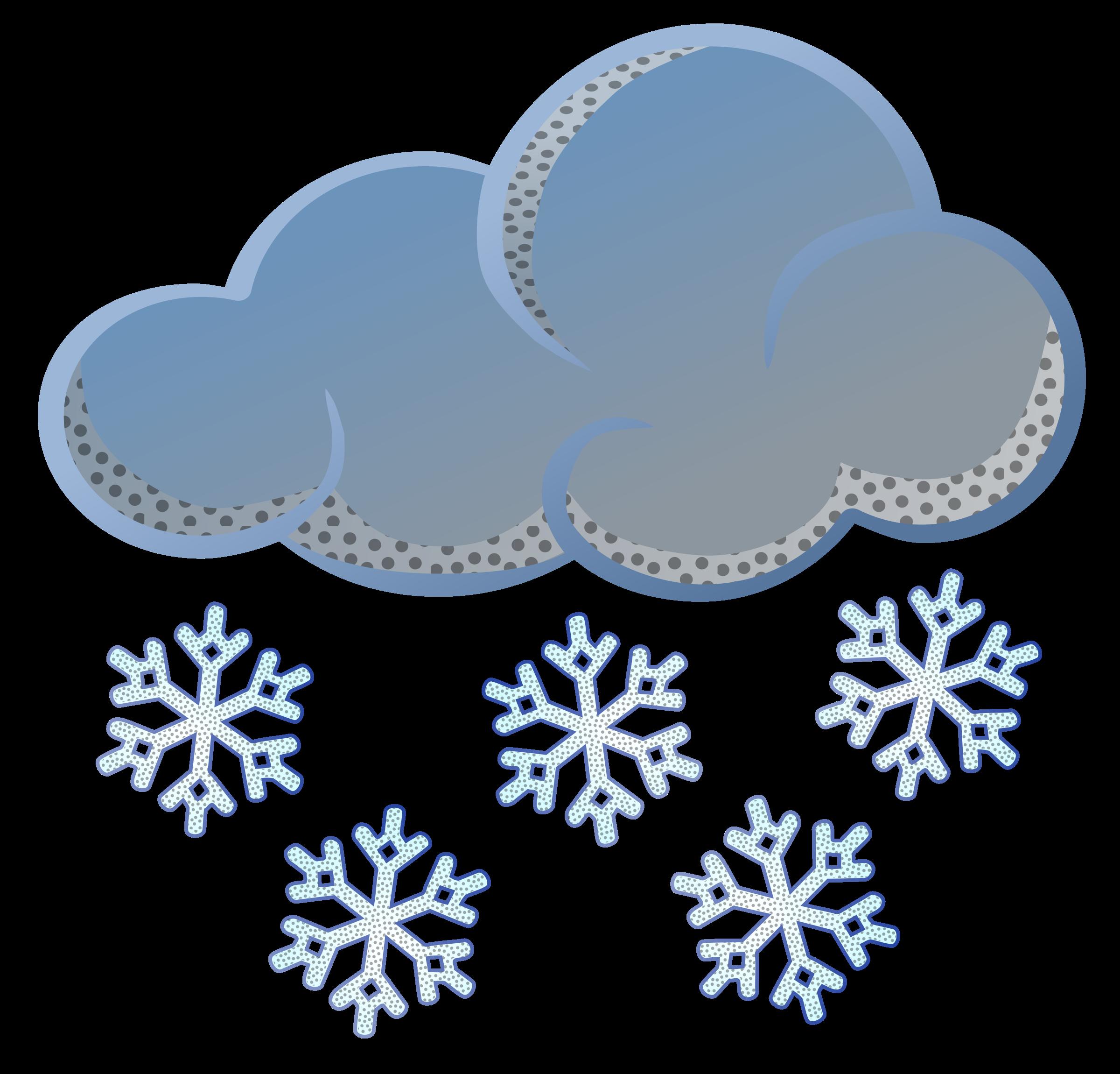 Snow coloured big image. Winter clipart rain