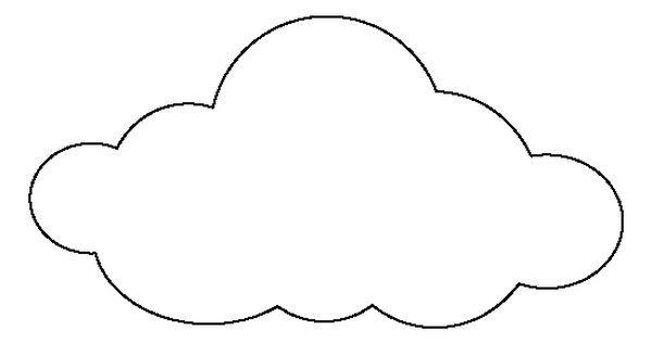 Large cloud pattern use. Clipart clouds pdf