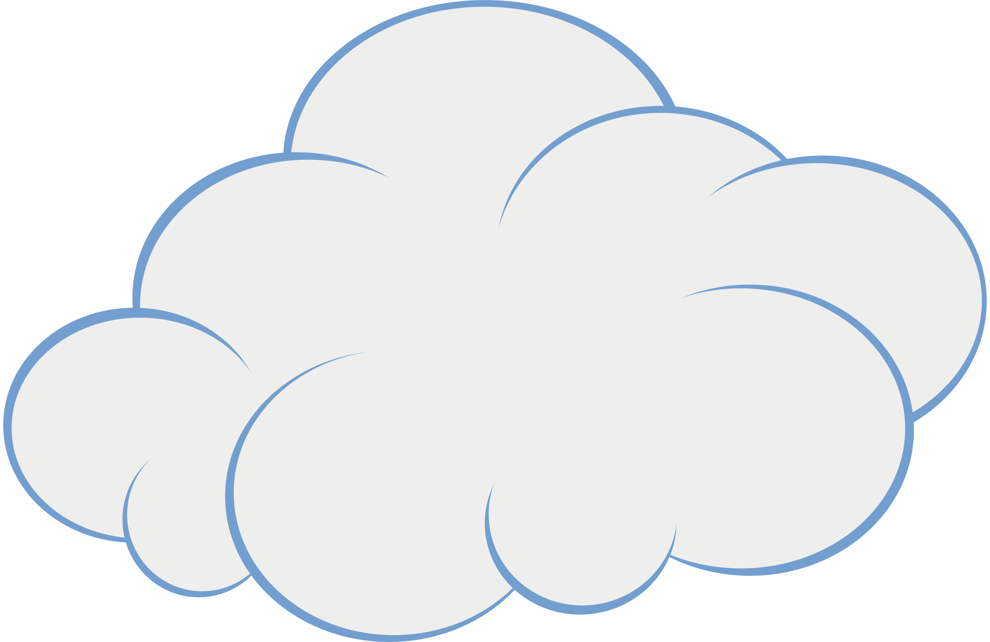 Cloud puffy. Clipart transparent