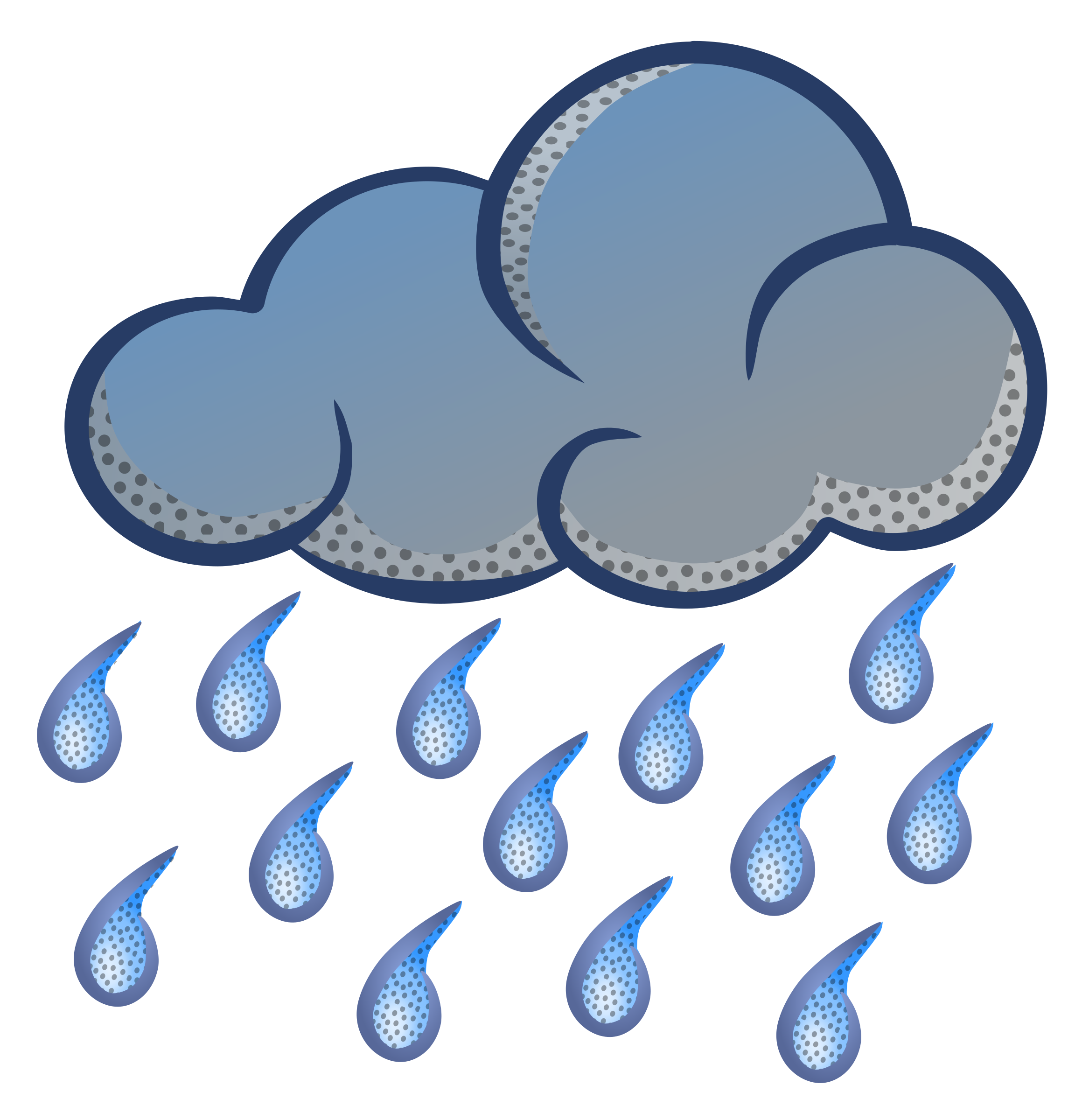 Cartoon rain cloud free. Sunny clipart rainy day
