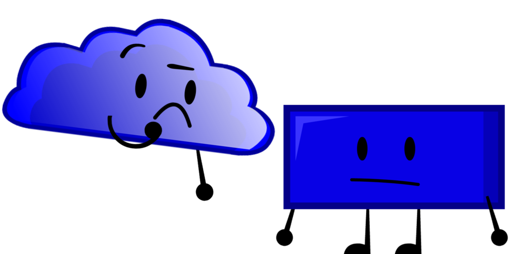 Clouds clipart rectangle. Blue cloud meets by