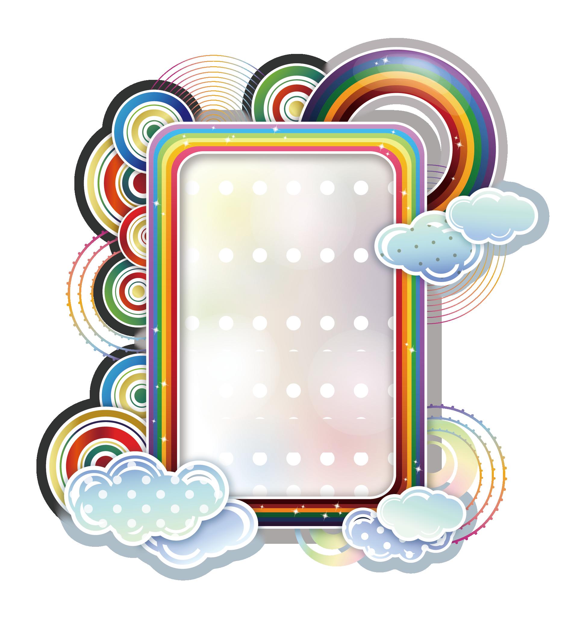 And frames rainbow cloud. Pineapple clipart borders