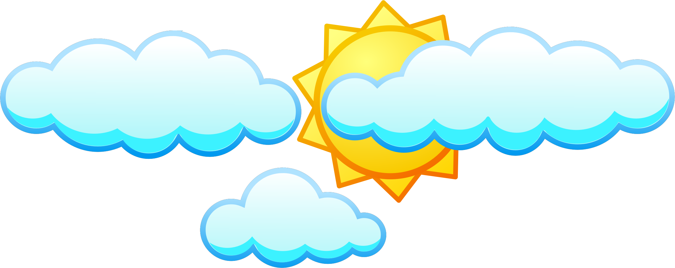 Clipart sun afternoon. Under clouds icons png