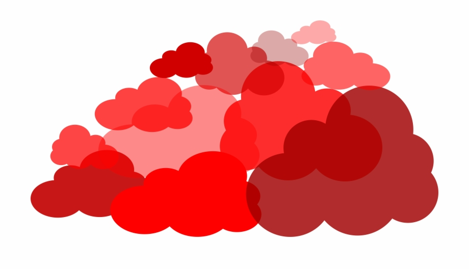 Clouds clipart red. Pencil and in color