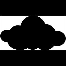 Template cricut svg . Cloud clipart silhouette