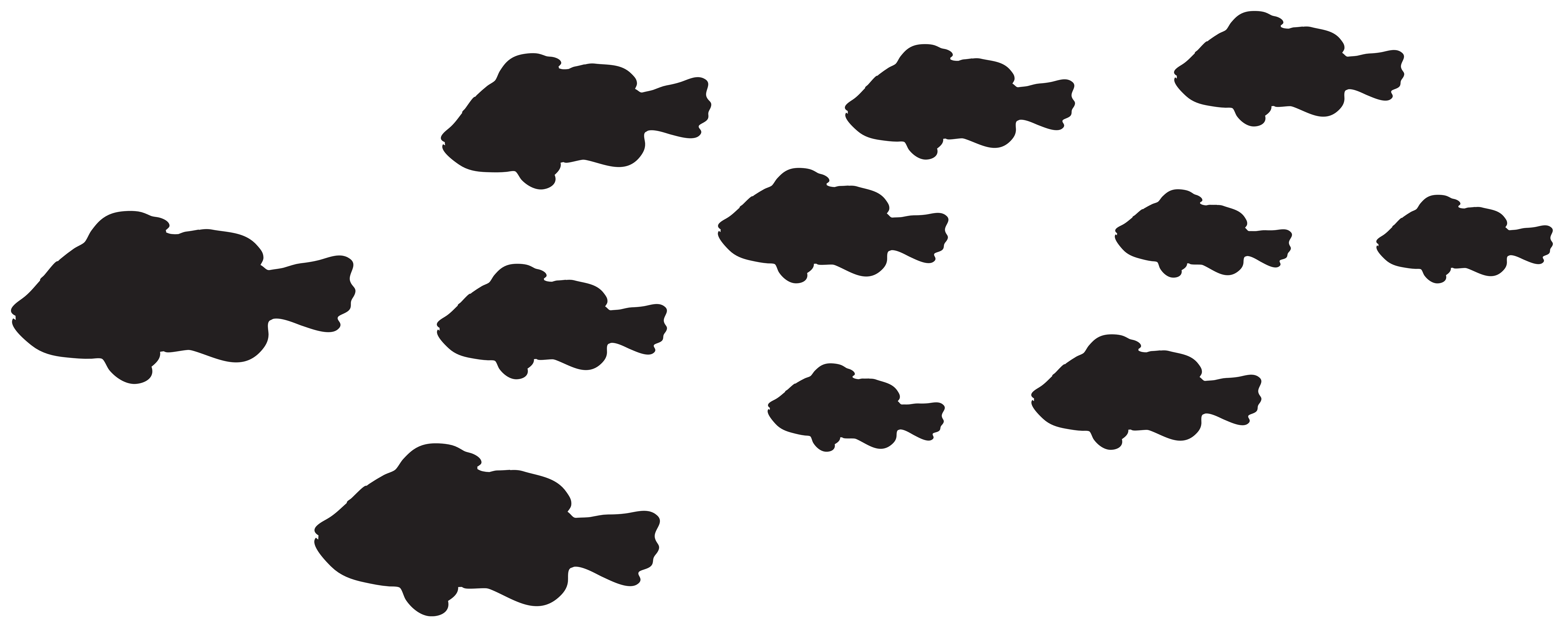 Cloud clipart silhouette. Fishes png clip art