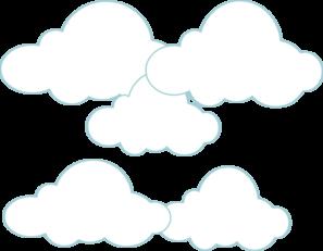 Clouds clip art at. Cloud clipart simple