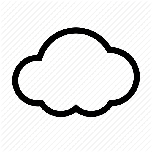 Icon png transparent free. Cloud clipart simple