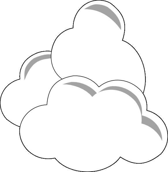 Weather clouds clip art. Cloudy clipart nuages