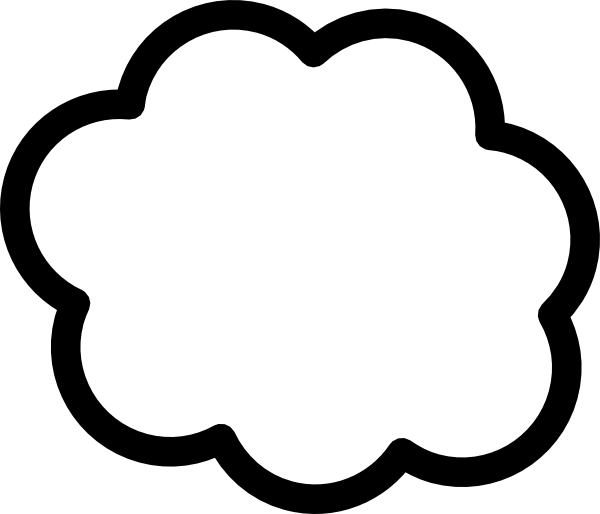 Clouds clipart sketch. Simple cloud outline clip