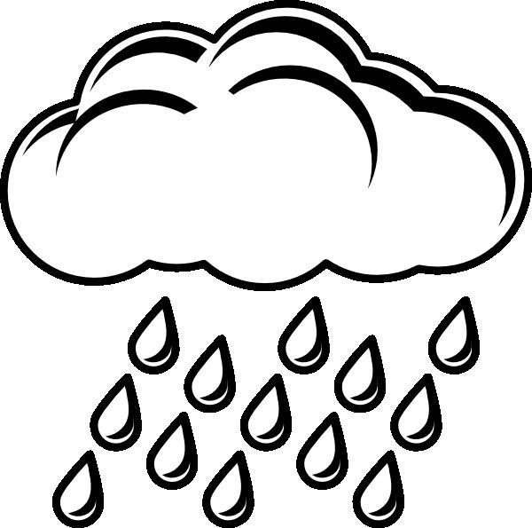 Cloud clipart sketch. Raincloud bw clip art