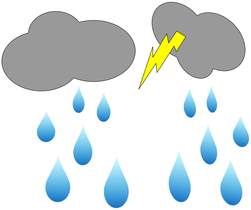 Clouds clipart sketch. Cloud lightning and rain