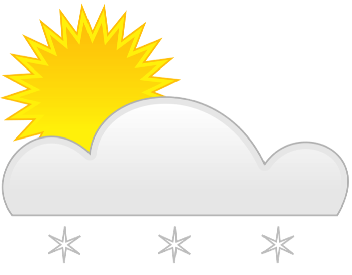 Weather graphics of wind. Clipart snow light snow