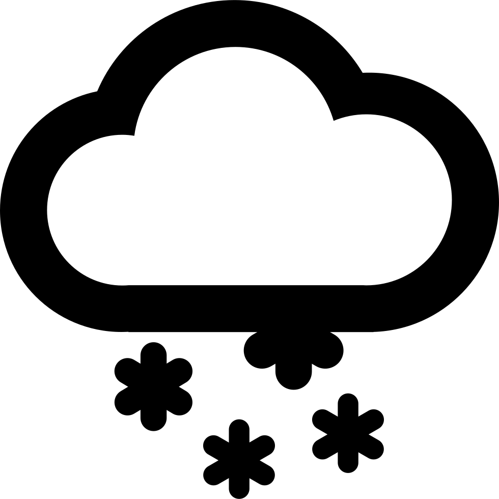Weather snow svg png. Clipart clouds snowing