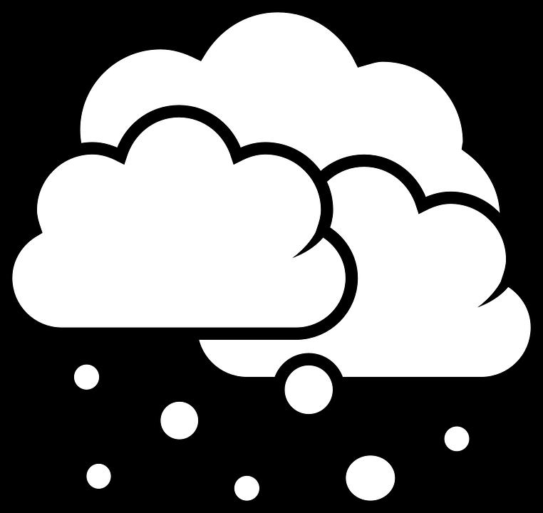 Snow cloud png black. Clipart clouds snowing