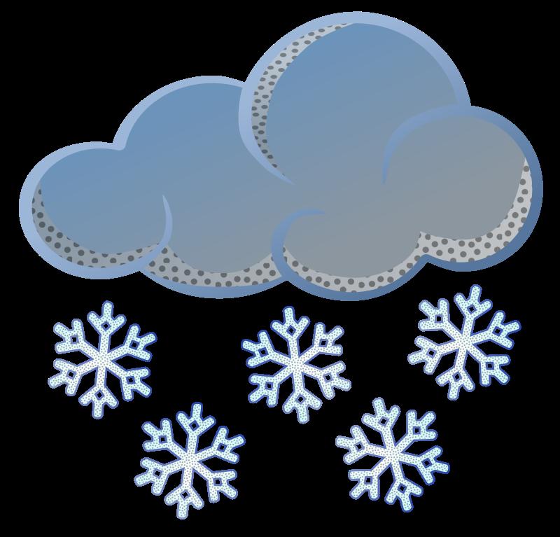 Clipart clouds snowing. Snow coloured medium image