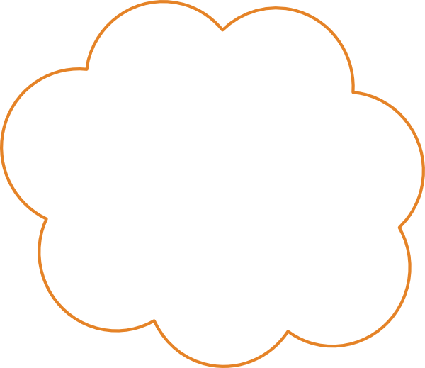 Cloud clip art at. Orange clipart clouds