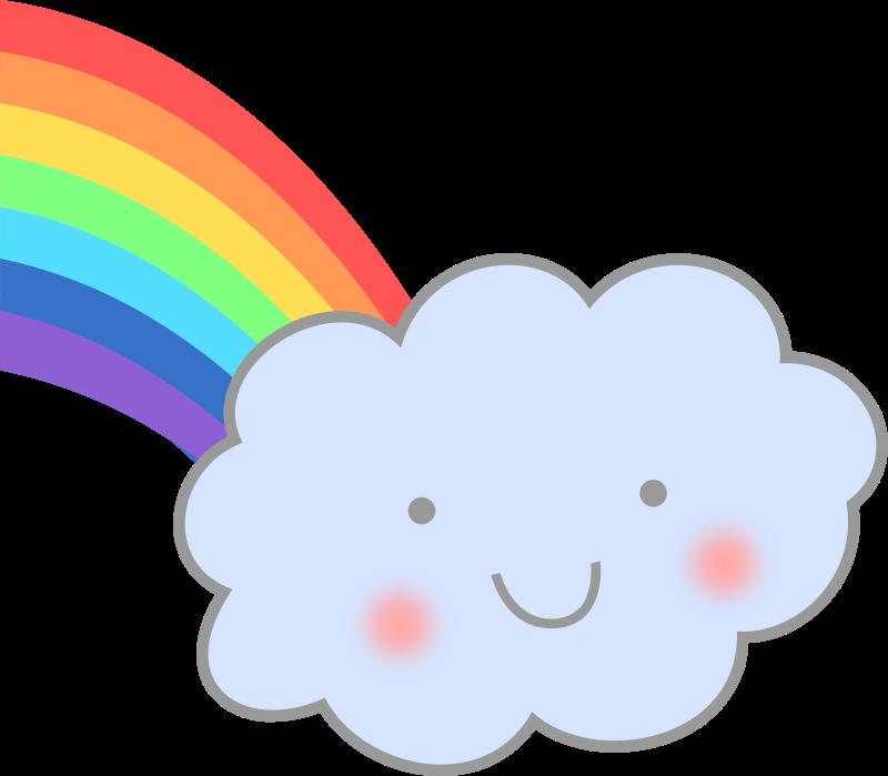Cloud png panda free. Clipart rainbow cute
