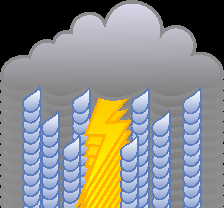 Raindrop clipart thunderstorm. Dark storm cloud pencil