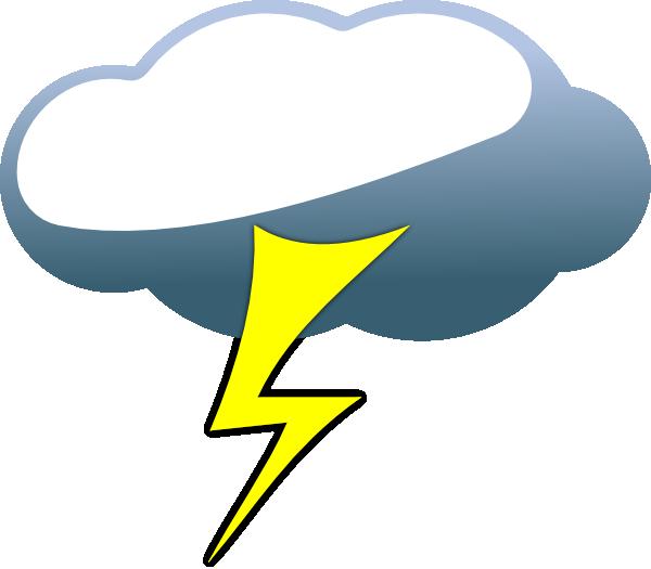 Clip art at clker. Cloud clipart lightning
